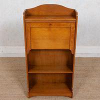 Edwardian Slim Oak Writing Bureau Arts & Crafts (5 of 9)