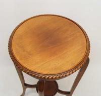 Early 20th Century 2 Tier Mahogany Torchiere, Plant Stand (4 of 11)