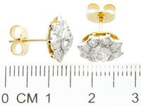 1.81ct Diamond & 18ct Yellow Gold Cluster Earrings - Antique c.1920 (7 of 9)