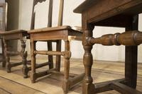 Set of Four French 18th Century Backstool Chairs (5 of 13)
