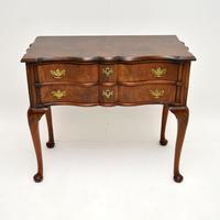 Antique Burr Walnut Low Boy Side Table (2 of 11)