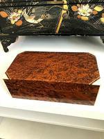 Art Deco Burr Walnut Trinket / Tobacco Box (7 of 7)