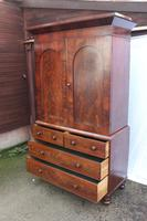 1880's Handsome Mahogany Linen Press with Slides (5 of 5)
