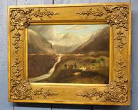 Folk Art. Oil Painting. The Falls of Ogwen. North Wales 1840 (2 of 11)