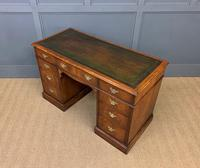 Edwardian Burr Walnut Pedestal Desk (13 of 14)