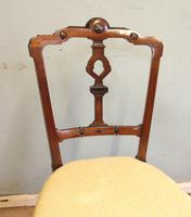 Antique Set of Four Victorian Walnut Dining Chairs (3 of 6)