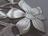 Rare 1902 Art Nouveau Hallmarked Solid Silver Nurses Belt Buckle Sydney & Co (8 of 10)