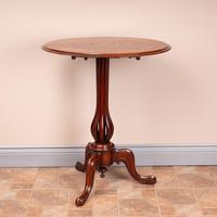 Good Quality Marquetry Walnut Occasional Tip Table (5 of 14)