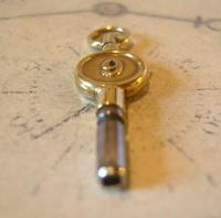 Antique Pocket Watch Chain Fob 1890s Victorian Brass Key Size 9 (10 of 10)