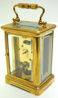 Superb French 8 Day Champleve Carriage Clock Cylinder Platform, Working c.1900 (4 of 12)