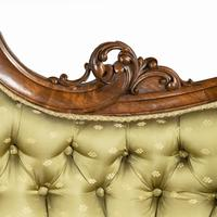 Elaborate Victorian Shaped Walnut Sofa (8 of 12)