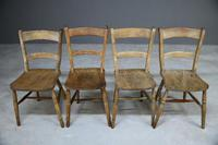 4 Rustic Elm Country Kitchen Chairs (8 of 14)