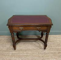 Quality Walnut Maple & Co Antique Writing Table (3 of 7)