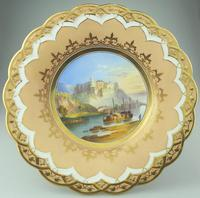 A Porcelain Comport / Tazza Hand Painted Coastal Scene C.19thc (2 of 6)