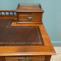 High Quality Victorian Maple & Co Antique Pedestal Desk (6 of 9)