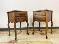 Vintage French Pair of Louis Style Bedsides Tables Oak Cabinets (3 of 12)