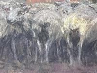 "Edwardian Pastel Painting ""The Sheepfold"" By John Robert Keitley Duff RI RA Rse (13 of 34)"