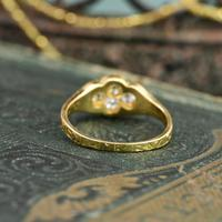 The Late Victorian Spencer of Charlotte 1892 Four Diamond Memory Ring (8 of 10)