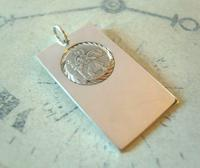 Vintage Pocket Watch Chain Silver St Christopher Fob 1960s Large Silver Fob (2 of 8)