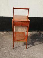 Beautiful Sheraton Revival Satinwood Sewing Table (2 of 11)
