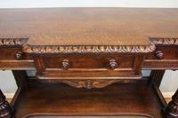 Antique Oak Victorian Shaped Sideboard Server (15 of 15)