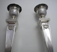 """Antique Victorian 10"""" tall ADAM STYLE Silver Plated English Candlesticks Candle Holders (7 of 9)"""