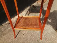 Beautiful Sheraton Revival Satinwood Sewing Table (7 of 11)