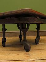 Small Industrial Antique Vono Cart Trolley Coffee Table with Bakelite Castors (7 of 17)