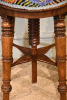 Regency Walnut Adjustable Piano Stool (2 of 6)