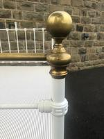 Antique Victorian Brass & Iron Double Bed (3 of 10)