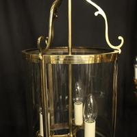French Set of 3 Convex Antique Hall Lanterns (5 of 10)