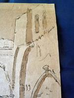 """18th Century Old Master Pen & Ink """"Ruins"""" (6 of 6)"""