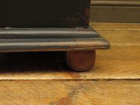 Small Black Painted Chest with Cupboard and Magazine Racks, Sofa Table (14 of 15)