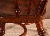 Rare Childs Yew Wood Windsor Stamped Fred Walker (8 of 10)