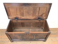 18th Century Carved Oak Blanket Box (3 of 11)