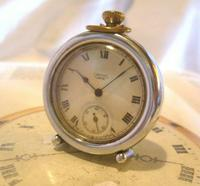 Vintage Smiths or Ingersoll Pocket Watch Case 1940s Original Chrome Bedside Case (2 of 11)