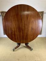 English 19th Century Mahogany Tilt Top Centre Table (6 of 8)