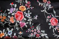 Early 19th Century Chinese Embroidered Silk Piano Shawl (5 of 15)