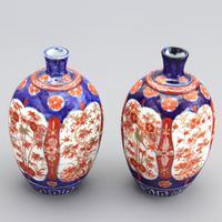 Pair of Japanese Meiji Period Square Form Imari Vases c.1890 (9 of 9)