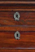 George III Period Mahogany Chest of Drawers with a Dressing Slide (4 of 4)
