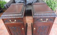 Rare Pair of Mahogany Adams Style Pot Cupboards 1820 (6 of 10)
