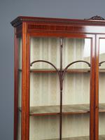 Antique Sheraton Style Inlaid Mahogany Display Cabinet (6 of 18)