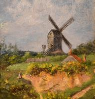 """Oil Painting by William Rackham """"Mill on the Mousehold Heath"""" (3 of 4)"""