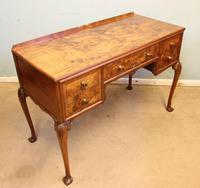 Quality Burr Walnut Side Table Writing Desk (2 of 14)