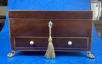 Georgian Mahogany Jewellery Box with Front Drawer (16 of 17)