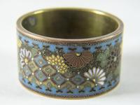 Antique Japanese Cloisonne Scroll Ring (2 of 4)