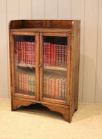 Small Proportioned Oak Glazed Bookcase (9 of 11)