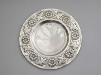 Victorian Arts & Crafts Hand Raised Silver Exhibition Dish by W G Connell, London, 1893 (2 of 10)