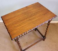 Antique Oak Barley Twist Occasional Table (3 of 5)