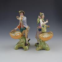 Fine Pair Minton Porcelain Sweetmeat Figures with Baskets Models 84 & 85 c.1830 (3 of 23)